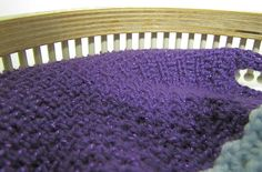 loom knit Woven stitch by telaine