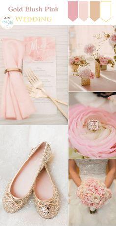 Gold Blush Pink Wedding Inspiration - KnotsVilla