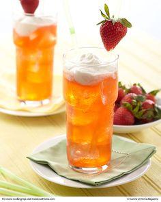 Strawberry-Lemon Italian Soda | Cuisine at home eRecipes with a little lemoncello?