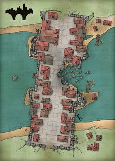 Fantasy City Map, Fantasy World Map, Dungeons And Dragons Homebrew, D&d Dungeons And Dragons, Dnd World Map, Pathfinder Maps, Village Map, Rpg Map, Map Layout