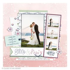 Looking for some ways to fit lots of fun photos on your layouts? Create your own photo strips! You could also add flip flaps (link in bio)… Wedding Scrapbook Pages, Love Scrapbook, Scrapbook Page Layouts, Scrapbook Albums, Scrapbook Cards, Scrapbooking Ideas, Scrapbook Designs, Wedding Album, Wedding Book