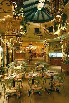 Chez Clement, Paris- restaurant with the hanging copper pots outside