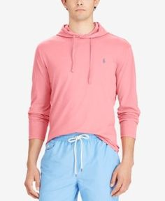 Polo Ralph Lauren Men's Jersey T-Shirt Hoodie - Hyannis Red S
