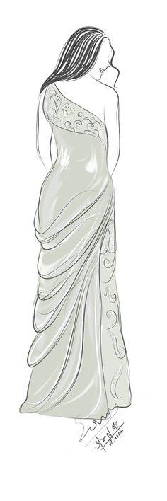 Soft Long Dress Sketch