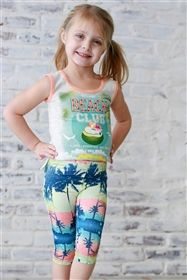 Neon by Sara Sara - Beach Club Graphic Tank & Palm Tree Capris Set Girly Girl Outfits, Cute Little Girls Outfits, Kids Outfits, Young Girl Fashion, Kids Fashion, Girls Sports Clothes, Beautiful Little Girls, Beautiful Children, Little Girl Leggings