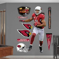 Fathead Arizona Cardinals Larry Fitzgerald Home - Wall Sticker Outlet