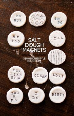 DIY Tutorial: Magnets / DIY Salt Dough Magnets - Bead&Cord