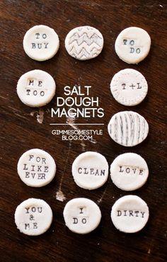 DIY Tutorial: Magnets / DIY Salt Dough Magnets - Bead&Cord