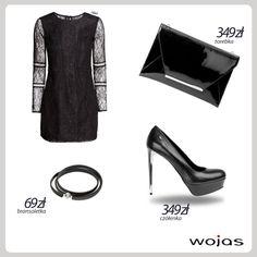Karnawałowy look! Delikatna sukienka z koronkowymi akcentami świetnie komponuje się z modnymi czółenkami Wojas ze srebrnym obcasem (5363-51). W stylizacji nie może zabraknąć lakierkowej kopertówki Wojas (5850-31) oraz subtelnej bransoletki (4313-51).