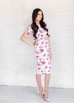 The RP Classic Dress in Floral Bloom – Rachel Parcell, Inc.