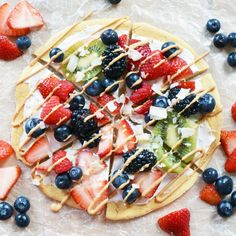 Vegan Berry Breakfast Pizza   Gluten-Free Chickpea Crust