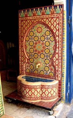 Moroccan Tile Fountain by georgette