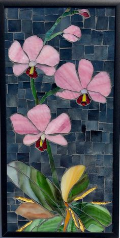 Stained Glass Mosaic Wall Art home decor mosaic flower wall art glass flower wall decor mosaic mosaics asian art art Mosaic Artwork, Mosaic Wall Art, Glass Wall Art, Tile Art, Mosaic Drawing, Paper Mosaic, Mosaic Mirrors, Stained Glass Patterns, Stained Glass Art