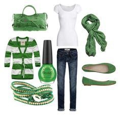 St. Patty's day outfit! by ashlee272 on Polyvore featuring Hollister Co., American Vintage, Toast, Balenciaga and OPI