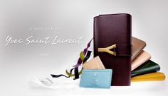 YSL clutches in all colors and leathers!