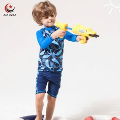 94add390d4 A Set 2pcs Boys Swimsuit UV Protection Shorts For Kids Cartoon Trunks Baby  Swimwear Children Diving Suit Beach Wear Boxers M XXL-in Children's  Two-Piece ...