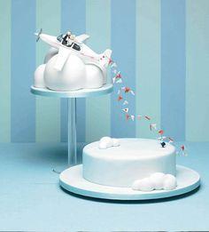 Fun wedding cake.