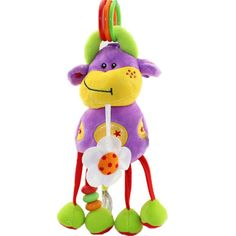 baby bed hanging calf giraffe 25CM height rattles bell ring stroller designer rattle toys