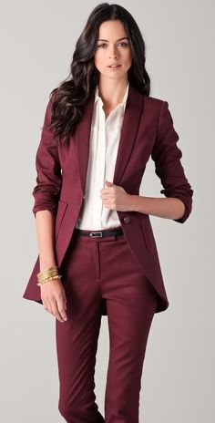Suit of the Week: Rachel Zoe, Go well with of the Week: Rachel Zoe Rachel Zoe Go well with. Rachel Zoe Go well with. Business Outfits, Business Attire, Office Outfits, Business Fashion, Simple Outfits, Casual Outfits, Emo Outfits, Suits For Women, Clothes For Women