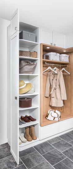 Vorzimmer | P.MAX Maßmöbel - Tischlerqualität aus Österreich Mudroom, Shoe Rack, Closet, Home Decor, Couple, Hall, Hallways, Colour Combinations, Coat Racks