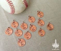 Baseball Pennies for the Team! Be great as keepsakes on keychains & jewelry or in shadowboxes, memory boxes and scrapbooks.