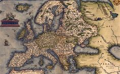 A 1570 map of Europe, from Abraham Ortelius' atlas (detail) Lost map of Celtic Europe...