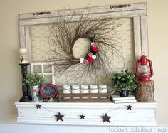 Last week I had some fun putting together a new mantel for Valentine's Day. I realized, through the process,that putting togethera mantel...
