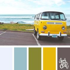 I really like this color palette. I probably wouldn't use them all together but I like how they pair with each other. Summer Color Palettes, Summer Colors, Paint Color Schemes, Colour Pallette, Yellow Color Combinations, Yellow Color Schemes, Color Yellow, August Colors, Color Balance