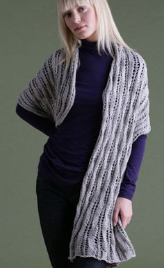Lace Wrap in Lion Brand Cotton-Ease - 60500. Discover more Patterns by Lion Brand at LoveKnitting. The world's largest range of knitting supplies - we stock patterns, yarn, needles and books from all of your favourite brands.