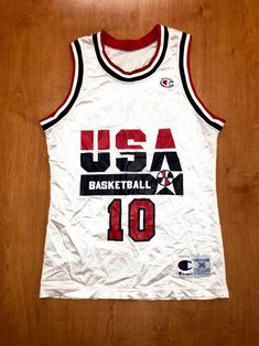 Vintage 1992 Clyde Drexler Dream Team Champion Jersey Size 36 usa charles  barkley scottie pippen magic johnson michael jordan blazers nba 909d6bf05