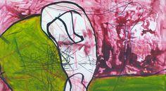 ursprünglich zurück, Acryl auf Leinen, 50x70 cm, 2012 Painting, Photography, Linen Fabric, Idea Paint, Painting Art, Art, Paintings, Paint, Draw