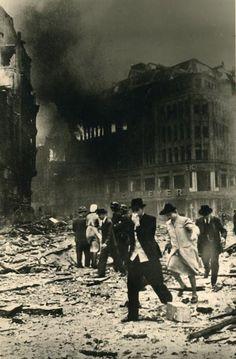 Hamburg after a bombardment, 1944.