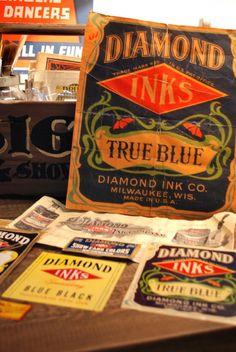 Diamond Ink Co.- Post on oncenewvintage.com  #typehunter