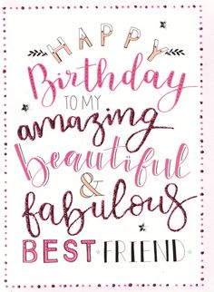 birthday quotes for best friend - birthday quotes . birthday quotes for best friend . birthday quotes for him . birthday quotes for me . birthday quotes for daughter . birthday quotes for husband Happy Birthday Best Friend Quotes, Birthday Qoutes, Birthday Wishes For Friend, Birthday Quotes For Him, Happy Birthday Fun, Happy Birthday Greetings, Card Birthday, Happy Birthday Lovely Friend, Sister Birthday Quotes Funny