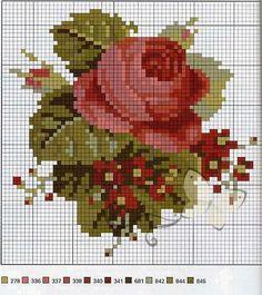 Ideas que mejoran tu vida Cross Stitch Rose, Cross Stitch Borders, Cross Stitch Flowers, Cross Stitch Charts, Cross Stitch Designs, Cross Stitching, Cross Stitch Patterns, Rose Embroidery, Cross Stitch Embroidery