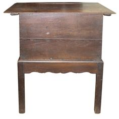 English Oak Box on Stand | From a unique collection of antique and modern end tables at https://www.1stdibs.com/furniture/tables/end-tables/
