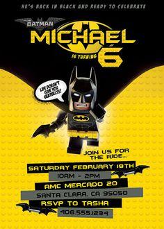 e8c9860bd0131335b89b1e0a7664eb83 fiesta lego lego batman fiesta lego birthday invitation lego movie lego batman by happybarngifts,Lego Batman Movie Invitations