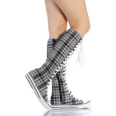 Plaid knee-high converse *thumbs up*