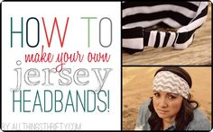 Jersey Headband for Women   Lovely and fashion trending headbands. How? Peek the simple steps. #diyready