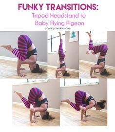 Funky Transitions: Tripod Headstand to Baby Flying Pigeon