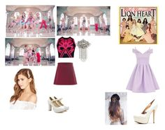 Girls` Generation(소녀시대) -  Lion Heart by roselinaexo-sugaa on Polyvore featuring polyvore fashion style Chi Chi Versace Glamorous Shoes Galore Jennifer Behr women's clothing women's fashion women female woman misses juniors