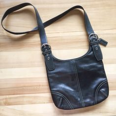 ✨JUST LISTED: Coach Crossbody Used only ONCE, in like-new condition • 100% authentic  • strap is comfortable to wear & is adjustable • back of purse has 1 large snap closure pocket, inside is shown in photo 3 • main part of purse is spacious and has two pockets and a zippered pouch shown in last photo • I will ship with a dust bag! Coach Bags Crossbody Bags