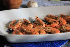 rezetas de carmen: Langostinos al horno Tapas, Shrimp, Fish, Meat, Cooking, Recipes, Baked Shrimp Scampi, Christmas Appetizers, Tasty Food Recipes