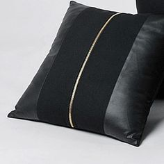 """ZT1017 Rock Cool Style PU Leather Woolen Single Zipper Home Decoration Black Throw Pillow Case Pillows Cushion Covers 18""""(China (Mainland))"""