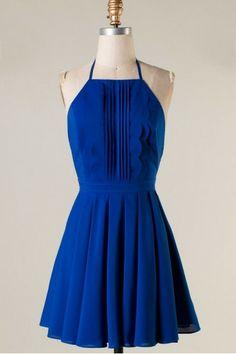 PRECIOUS SAPPHIRE Halter Open Bow Back Dress Shop Simply Me Boutique – Simply Me Boutique