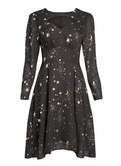 Reece Rose Gold Starry Night Dress from Joanie Clothing. Vintage Inspired Dresses, Vintage Style Dresses, Trendy Dresses, Simple Dresses, Casual Dresses, Prom Dresses, Starry Night Dress, Joanie Clothing, White Summer Outfits