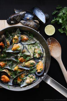 Thai mussels - Mejillones Thai