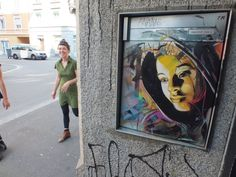 street art by Christian Guémy, C215 - Zurich