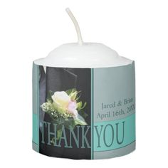 Groom's boutonniere Wedding Favor Votive Candle