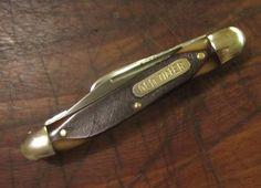 VINTAGE SCHRADE WALDEN NY USA 108OT OLD TIMER KNIFE JR STOCKMAN POCKET KNIVES